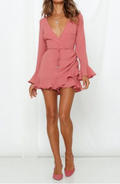 Dark Rose Wrap Romper