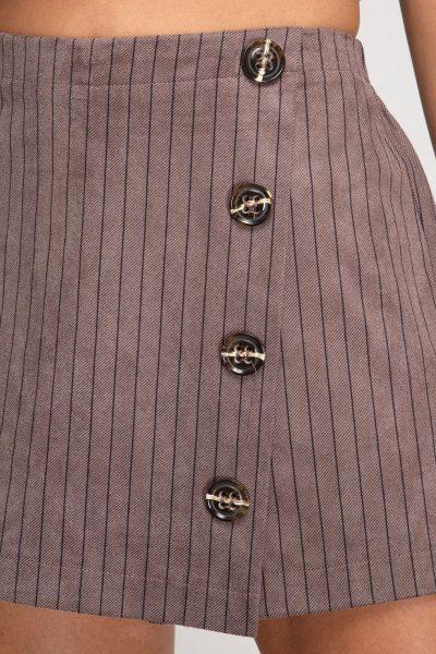 Mocha Button Skort