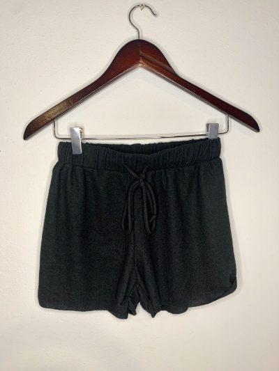 Black Soft Lounge Shorts