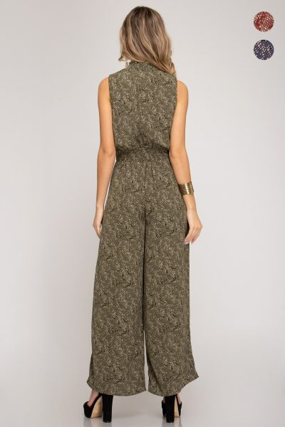 Olive High Neck Jumpsuit