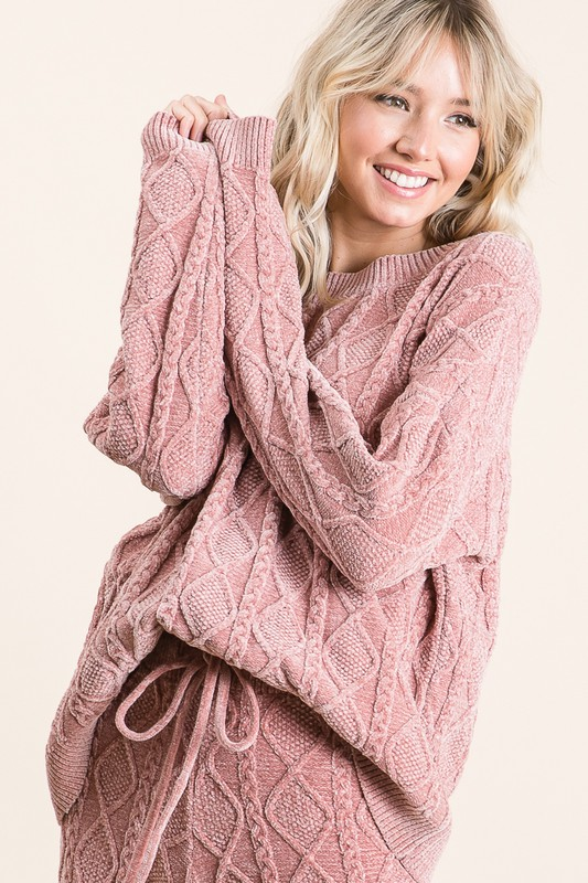 Soft and Cozy Rose Sweater Top
